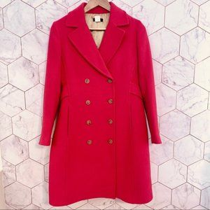 J. Crew Double Breasted Lady Coat Wool Thinsulate